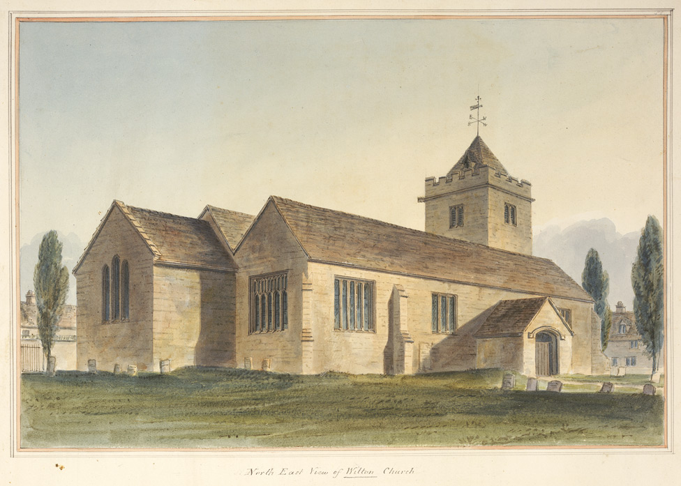 North-east view of Wilton church